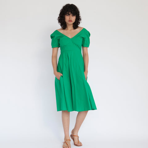 French Kiss Midi Dress, Green