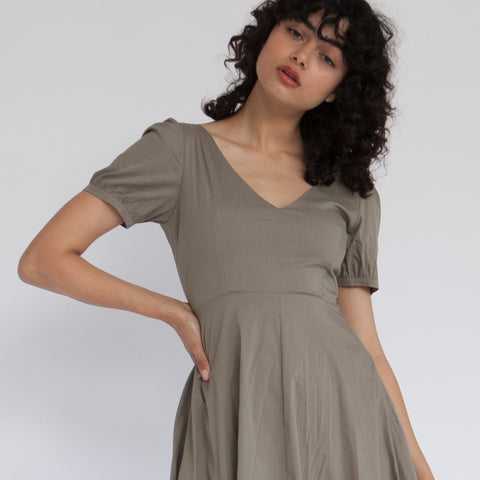 French Kiss Midi Dress, Olive