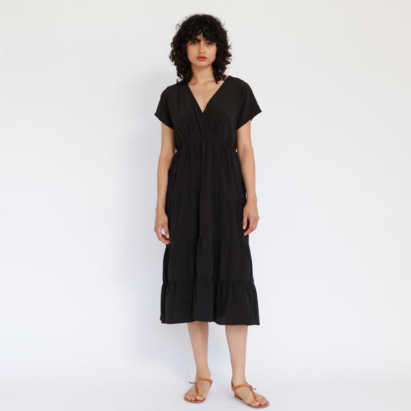 Tile Maxi Dress, Black
