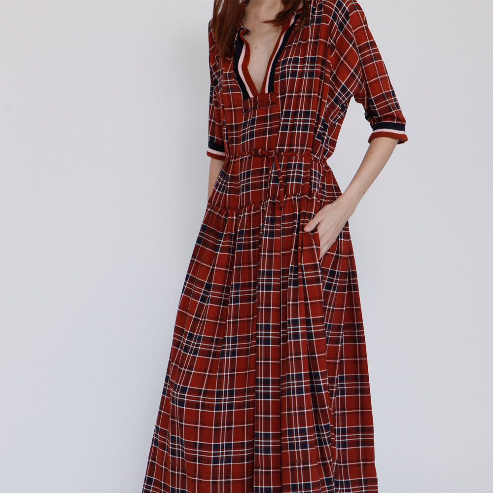 The Elamore Dress, Amber Plaid dress