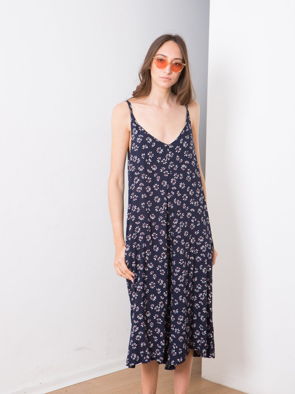 Summer wide leg Jumpsuits , Blue floral print jumpsuit  .
