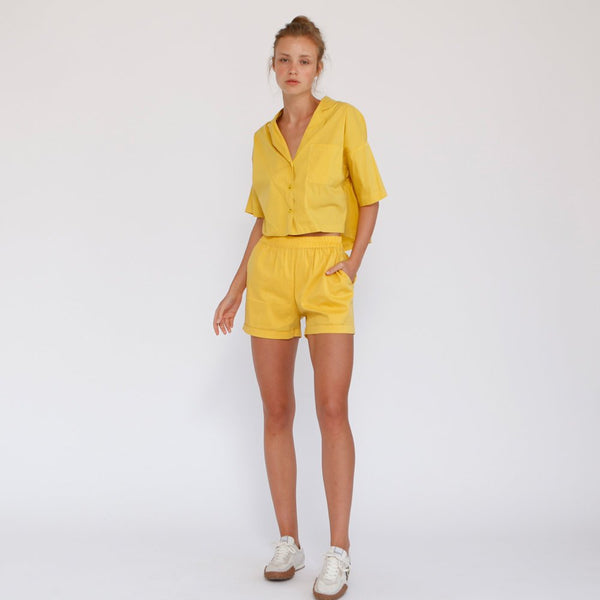 Aria Summer Shorts, Yellow