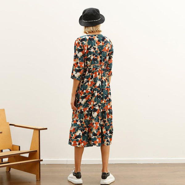 Tile Maxi dress, original print