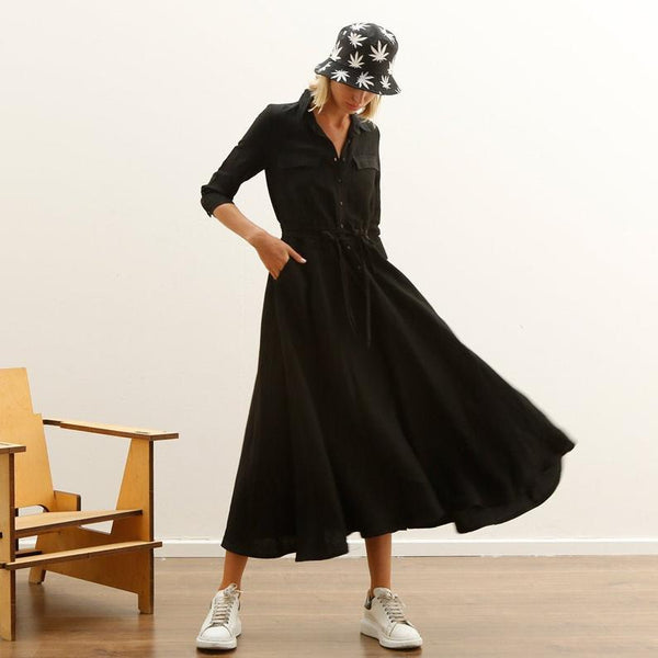 Black Sundress Maxi Fall Skirt dress