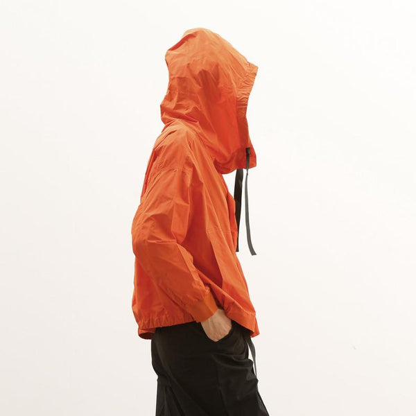 Recycled Nylon Windbreaker Jacket, Orange