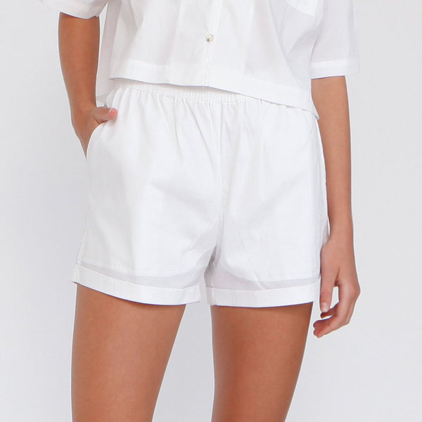 Aria Summer Shorts, White