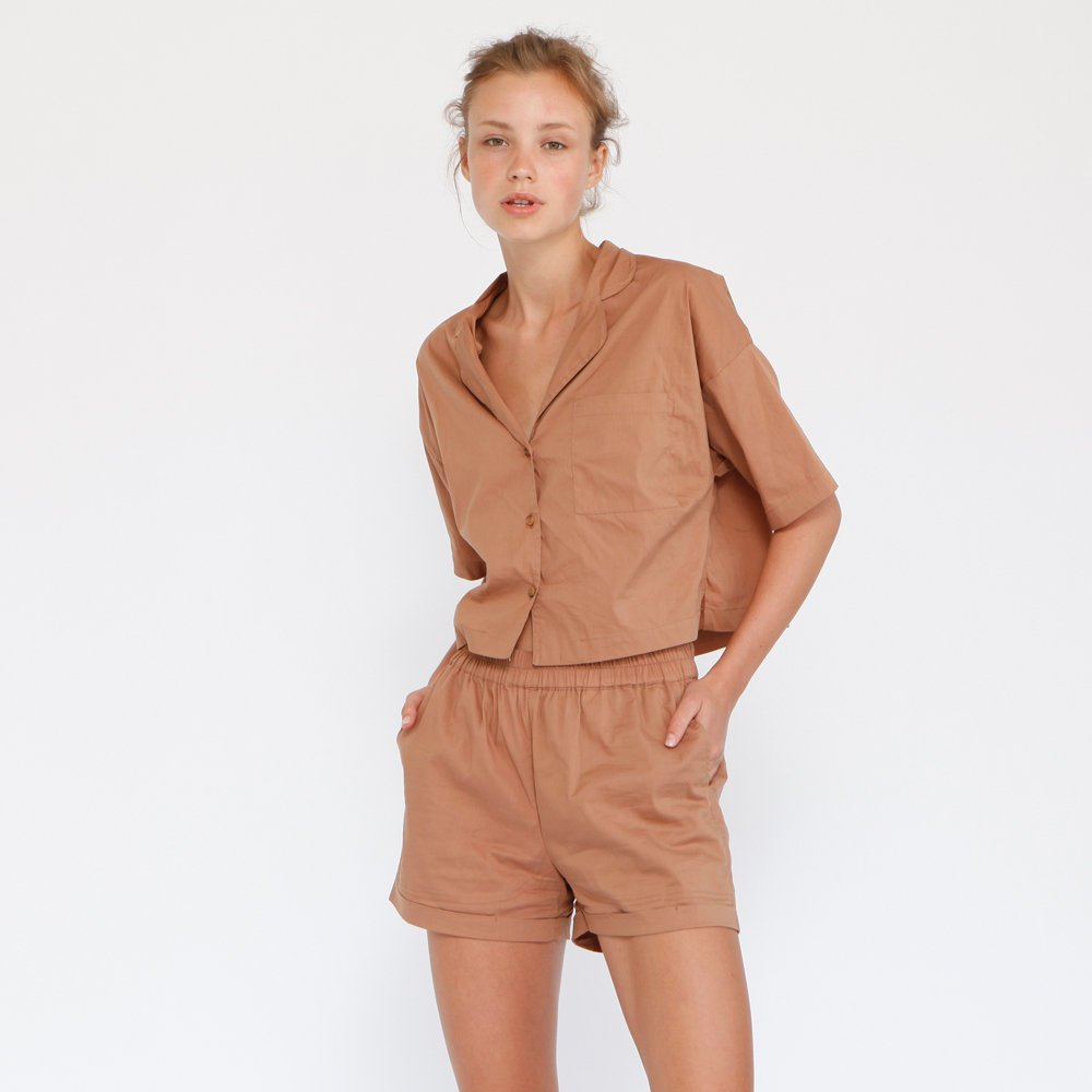 Aria Summer Shorts, Brown