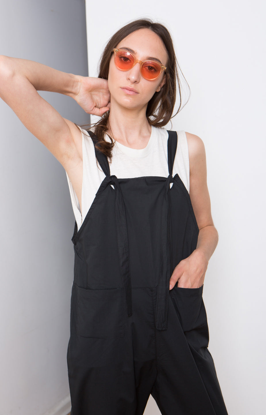 Slim fit overall , Soft cotton overall, Black Summer Rompers , Black Women overall