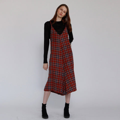 d3a9134f8d Boho Amber Plaid Overall The Rooney Amber Jumpsuit