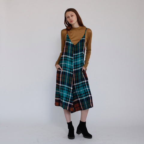 39aaccf14e Boho Green Plaid Overall Rooney The Rooney Green Jumpsuit