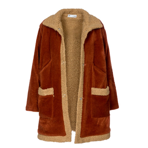 Vintage inspired Bohemian Woman Sherpa Coat.