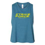 Strike Force Stacked Ladies Cropped Tank