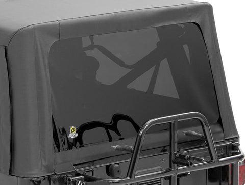 1997-2006 Jeep Wrangler Replacement Soft Top Rear Window (color options)