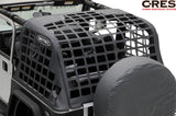 2007-2016 Jeep Wrangler 2 Door Smittybilt C•RES - Cargo Restraint System in Black Diamond