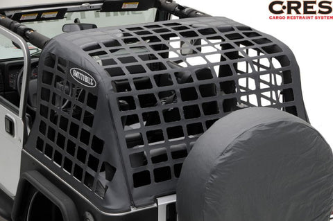 1997-2006 Jeep Wrangler Smittybilt C•RES - Cargo Restraint System in Black Diamond