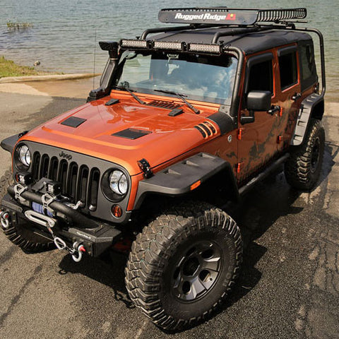 2007-2017 Jeep Wrangler Rugged Ridge Hurricane Flat Fender Flares Kit