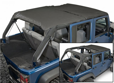 2007-2016 Jeep Wrangler Unlimited Rampage Combo Brief Topper in Black Diamond