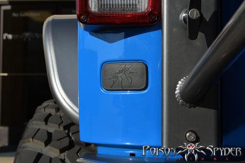 2007-2016 Jeep Wrangler Poison Spyder Customs Rear License Plate Delete Cover