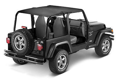 1997-2006 Jeep Wrangler Extended Bikini Top (color options)