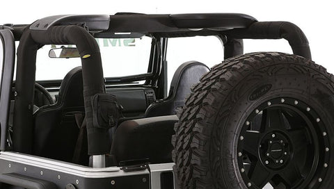 2007-2016 Jeep Wrangler 2 Door Smittybilt Roll Bar Padding Cover Kit with Molle Pouch Attachments