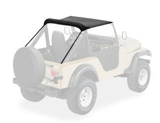 1955-1975 Jeep CJ5 M38A1 Bikini Top in Black Crush