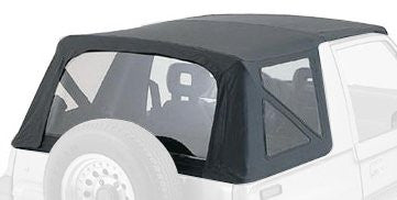 1995-1998 Geo Tracker & Suzuki Sidekick Soft Top with Clear Windows Black Diamond