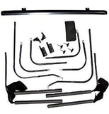 1997-2006 Jeep Wrangler Rampage Complete Soft Top with Hardware in Black Diamond