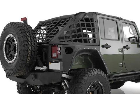 2007-2017 Jeep Wrangler Unlimited Smittybilt C•RES - Cargo Restraint System in Black Diamond