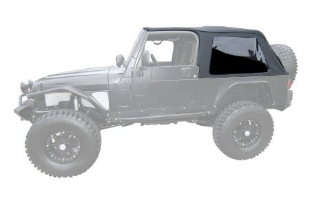 2004-2006 Jeep Wrangler Unlimited Frameless Bowless Soft Top Kit