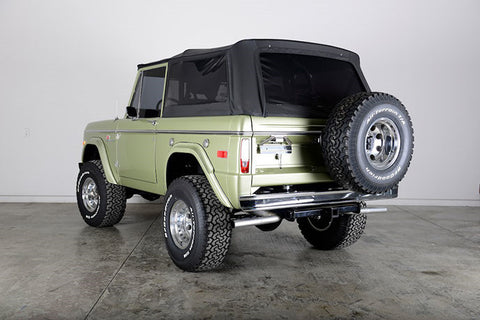 1966-1977 Ford Bronco Rampage Complete Soft Top Kit with Hardware in Black