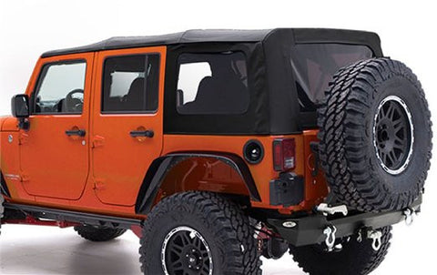 2007-2009 Jeep Wrangler Unlimited Soft Top with Tinted Windows in Black Diamond