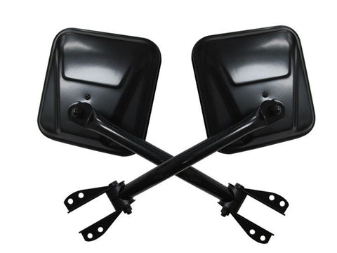 1955-1986 Jeep CJ Side View Mirror Set in Black