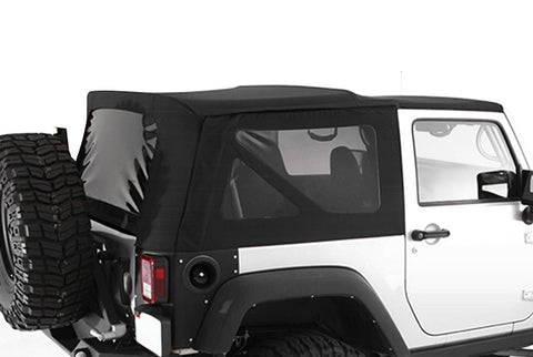 2007-2009 Jeep Wrangler 2 Door Soft Top with Tinted Windows Black Diamond