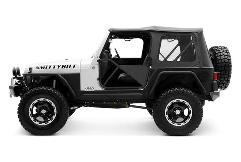 1997-2006 Jeep Wrangler Replacement Soft Top with Clear Rear Windows Black Diamond