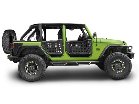 2007-2016 Jeep Wrangler Unlimited Body Armor Gen III Trail Front & Rear Doors
