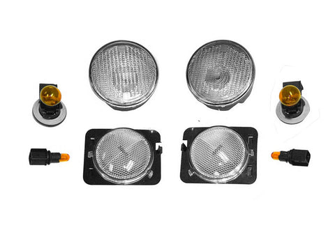 2007-2016 Jeep Wrangler Clear Corner & Turn Signal Lens Kit