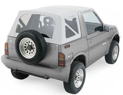 1988-1994 Geo Tracker & Suzuki Sidekick Soft Top with Clear Windows in White