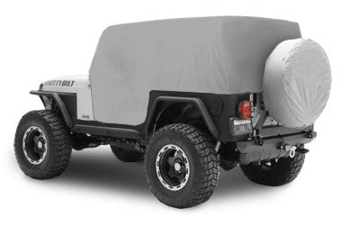 1992-1995 Jeep Wrangler Smittybilt Cab Cover with Door Flaps in Gray