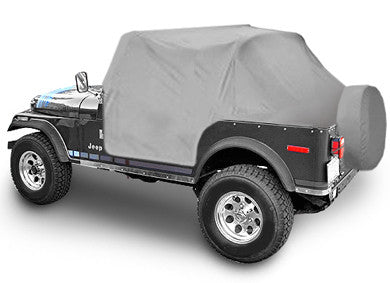 1976-1986 Jeep CJ7 Smittybilt Cab Cover with Door Flaps in Gray