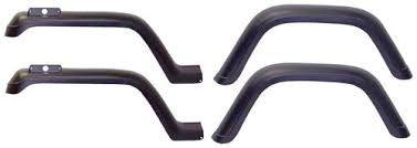 1987-1995 Jeep Wrangler Replacement Fender Flares 4 Piece Kit