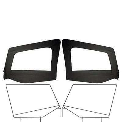 1987-1995 Jeep Wrangler OE Style Upper Doors with Frame in Black Denim