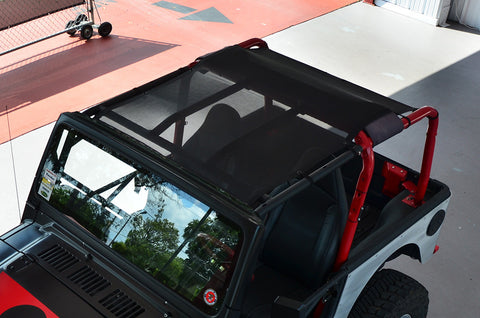 1997-2006 Jeep Wrangler SpiderWebShade Trailmesh Top in Black