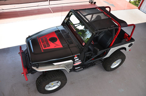 1997-2006 Jeep Wrangler SpiderWebShade TJKini Top in Black