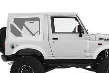1986-1994 Suzuki Samurai Soft Top and Clear Windows in White
