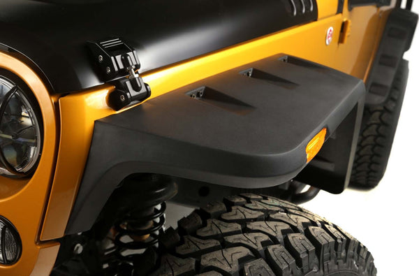 2007 2017 Jeep Wrangler Rugged Ridge Hurricane Flat Fender