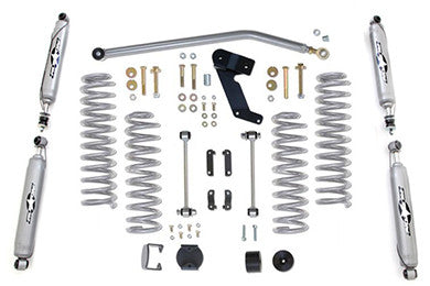 2007-2016 Jeep Wrangler 3.5 Inch Standard Coil Lift Kit with Twin Tube Shocks