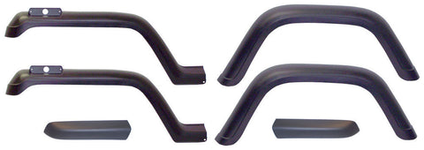 1987-1995 Jeep Wrangler Replacement Fender Flares 6 Piece Kit