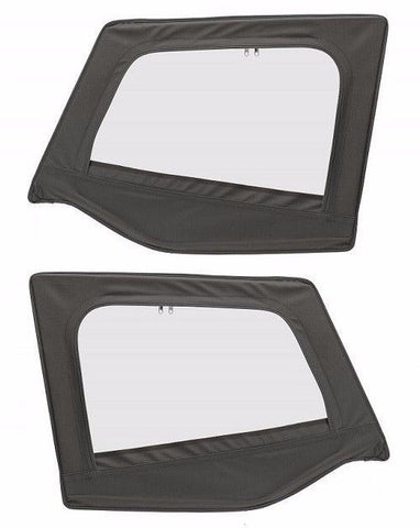 1987-1995 Jeep Wrangler OE Style Upper Door Skins in Black Denim