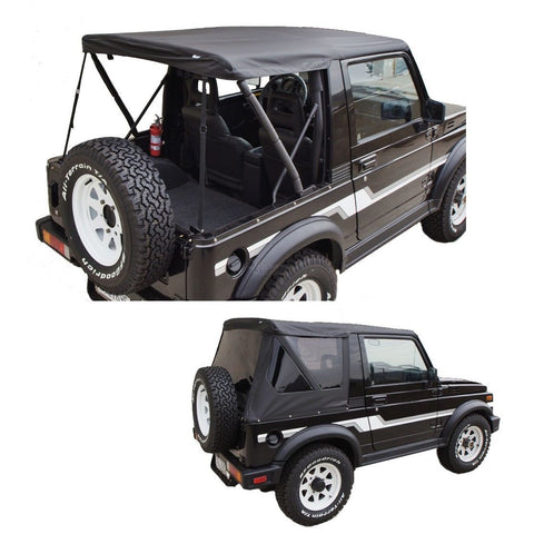 1986-1994 Suzuki Samurai Soft Top and Tinted Windows in Black Denim