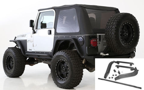 1997-2006 Jeep Wrangler Smittybilt Frameless Bowless Soft Top with Hardware Kit